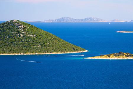 Islands of Kornati national park view, Dalmatia, Croatia