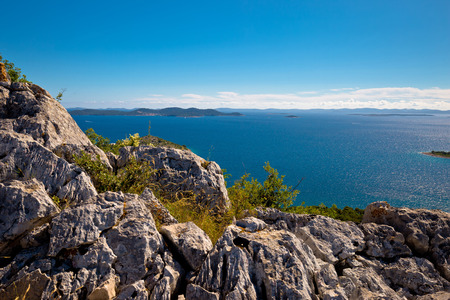 kornati: Kornati national park archipelago view, Dalmatia, Croatia Stock Photo