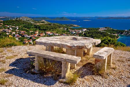 kornat: Archipelago of Croatia hill viewpoint, Drage pakostanske, Dalmatia, Croatia