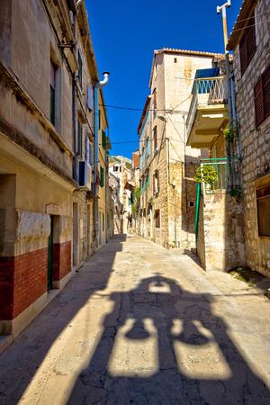 dalmatia: Old narrow stone street of Vis view, Dalmatia, Croatia