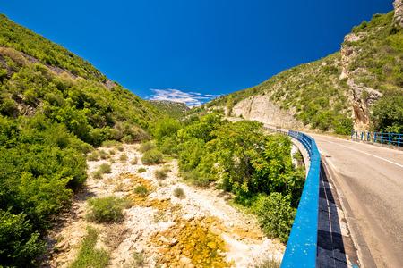 dalmatia: Cikola river canyon and bridge, inland Dalmatia, Croatia