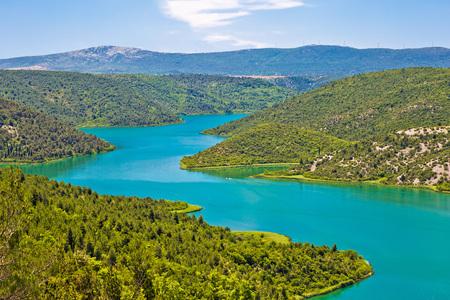 dalmatia: Krka river national park view, inner Dalmatia, Croatia Stock Photo