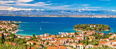 Island of Ugljan waterfront panoramic view, Preko, Dalmatia, Croatia