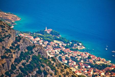 gora: Town of Bol from Vidova Gora aerial view, Island of Brac, Dalmatia, Croatia