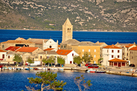 paklenica: Town of Vinjerac in Velebit bay view, Dalmatia, Croatia