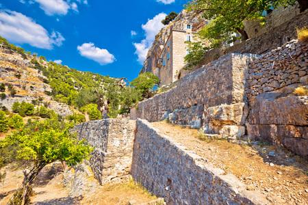 dalmatia: Pustinja Blaca hermitage in stone desert of Brac island, Dalmatia, Croatia