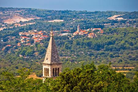dalmatia: Village of Nerezisca and Donji Humac view, Island of Brac, Dalmatia, Croatia