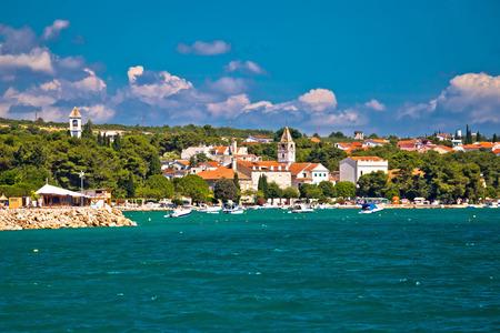 Coastal village of Sveti Filip I Jakov waterfront view, Dalmatia, Croatia Stock Photo