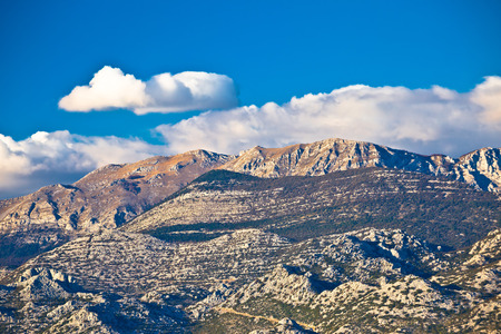 paklenica: Paklenica national park on Velebit mountain view, stone peaks of Croatia Stock Photo