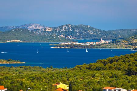 betina: Murter island archipelago and town of Betina view, Dalmatia, Croatia