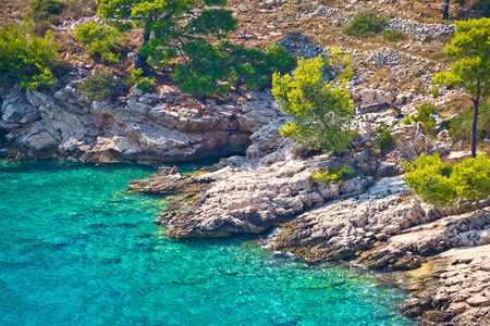 dalmatia: Secret turquoise beach on Brac island, Dalmatia, Croatia