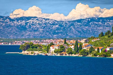 Island of Osljak, Zadar and Velebit mountain view, Dalmatia, Croatia