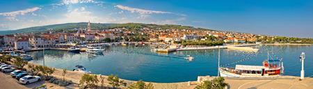 dalmatia: Supetar on Brac island panoramic view of harbor and old waterfront, Dalmatia, Croatia