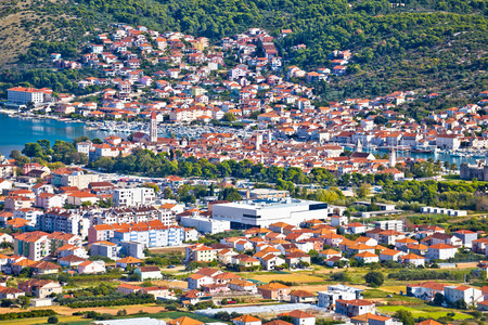 kornat: Town of Trogir aerial view, Dalmatia, Croatia Stock Photo