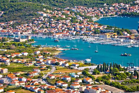 Troagir 베이 및 Ciovo 섬 공중보기, 달마 티아, 크로아티아