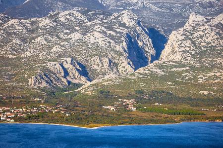 Paklenica canyon National park on Velebit mountain view, coast of Croatia