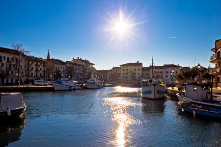 lido: Town of Grado waterfront view, Friuli-Venezia Giulia region of Italy Stock Photo