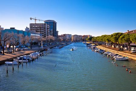 lido: Town of Grado channel coast view, Friuli-Venezia Giulia region of Italy Stock Photo