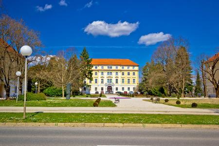 Town of Ludbreg square view, Prigorje region of Croatia Stock Photo