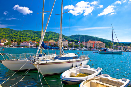 starigrad: Stari Grad on Hvar island sailing destination, Dalmatia, Croatia