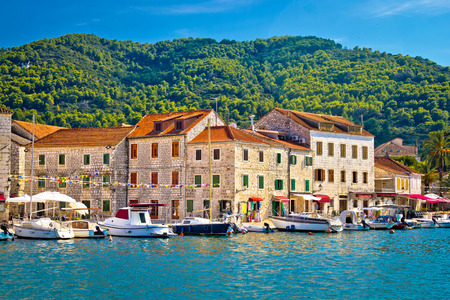 Stari Grad waterfront view, island of Hvar, Croatia