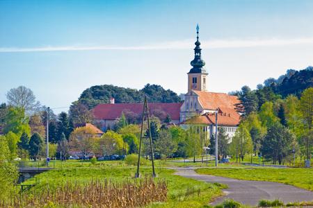 Town of Lepoglava springtime view, Zagorje region of Croatia Stock Photo