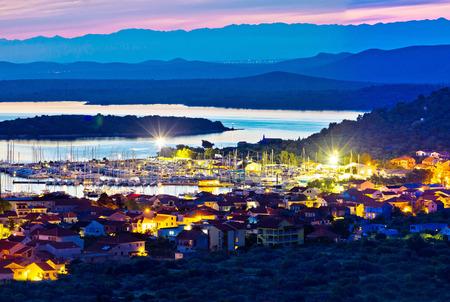 betina: Betina and Murter island evening panorama, Dalmatia, Croatia