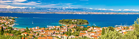 Island of Ugljan waterfront panoramic view, Preko, Dalmatia, Croatia Stock Photo - 72870670