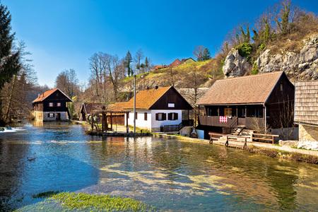 vibrant cottage: Falling waters village of Rastoke, Lika, Croatia