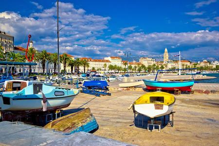 croatian: City of Split harbor and old architecture, Dalmatia, Croatia