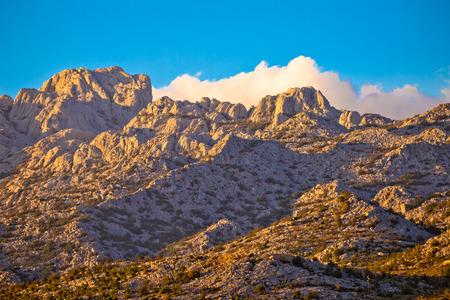 Paklenica national park on Velebit mountain view, stone peaks of Croatia Stock Photo