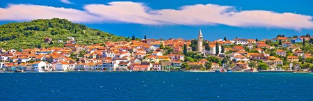 Kali village waterfront panoramic view, Island of Ugljan, Dalmatia, Croatia