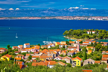 Island of Ugljan waterfront and Galovac view, Preko, Dalmatia, Croatia Stock Photo - 75142425
