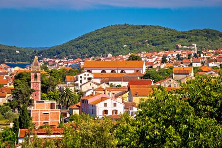 Village of Preko on Ugljan island, Zadar archipelago in Dalmatia, Croatia Stock Photo