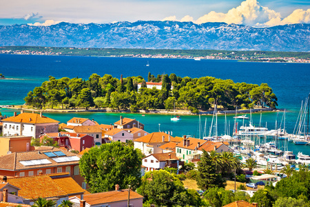 Island of Ugljan waterfront and Galovac view, Preko, Dalmatia, Croatia