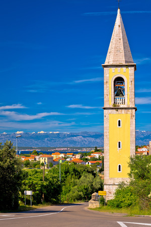 Sutomscica village and Zadar channel view, Island of Ugljan, Croatia Stock Photo - 75142762