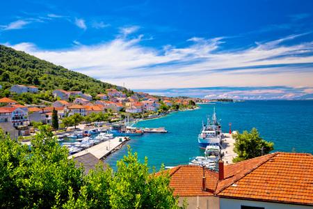 Kali - small fishermen town harbor, Island of Ugljan, Dalmatia, Croatia Stock Photo
