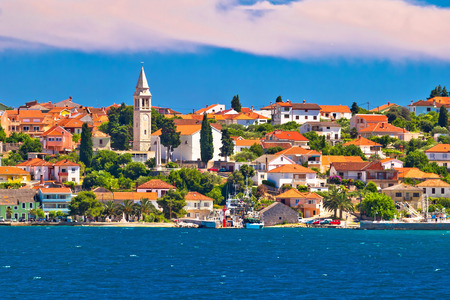 Kali village waterfront panoramic view, Island of Ugljan, Dalmatia, Croatia