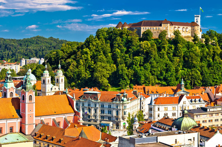 City of Ljubljana panoramic view, capital of Slovenia