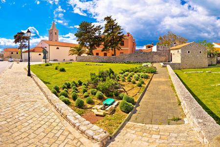Town of Nin historic landmarks panoramic view, Dalmatia, Croatia
