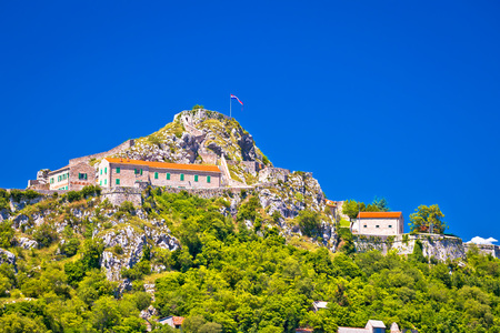 Old town Knin on rock peak, Dalmatian Zagora, Croatia