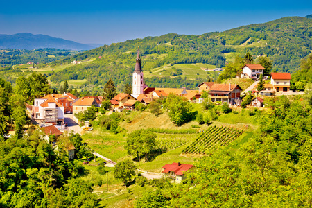 Picturesque town of Klanjec view, Zagorje region of Croatia