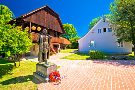 Kumrovec picturesque village in Zagorje region of Croatia, statue of Josip Broz Tito, former leader of Yugoslavia in his birth village Stock Photo