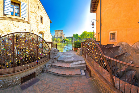 watermills: Borghetto village on Mincio river watermills view, Veneto region of Italy