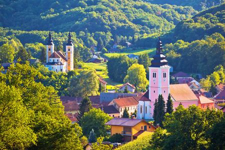 Village of Strigova towers and green landscape, Medjimurje region of Croatia Standard-Bild