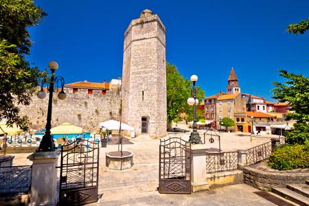 Zadar Five wells square and historic architecture view, Dalmatia, Croatia Standard-Bild