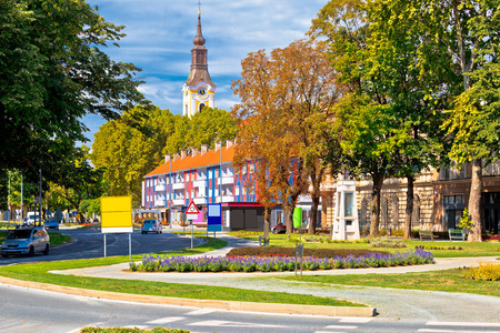 Town of Virovitica street view, Slavonija region of Croatia Stock Photo