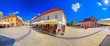 Town of Cakovec square and landmarks panoramic view, Medjimurje region of Croatia Stock Photo