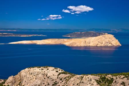 Goli Otok island in Velebit channel of Croatia Stock Photo