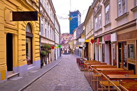 ザグレブ・ラディセヴァ通りアドベントビュー、クロアチアの首都 写真素材